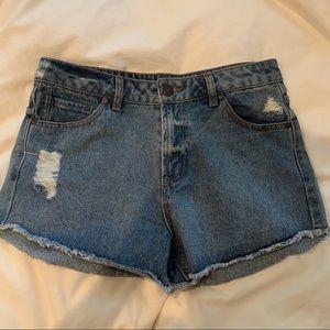 Refuge high waisted jean shorts